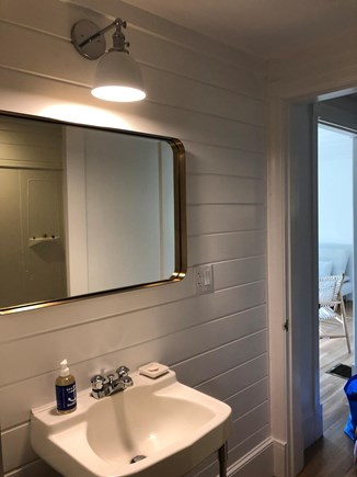 Edgartown Martha's Vineyard vacation rental - Shiplap Bathroom connects to both bedrooms