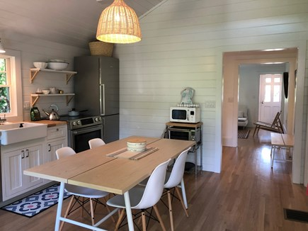 Edgartown Martha's Vineyard vacation rental - Hallway leads past sleeping nook to living room