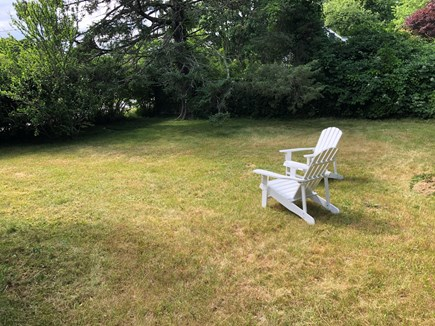 Edgartown Martha's Vineyard vacation rental - Big back yard