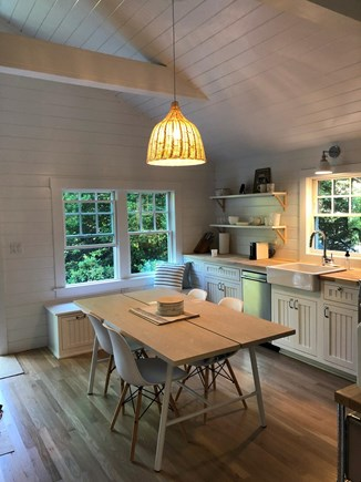 Edgartown Martha's Vineyard vacation rental - Dining for 6 (extra stools & bench in the house).