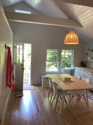 Edgartown Martha's Vineyard vacation rental - Vaulted Ceiling w/ shiplap & window seat looking out to big yard
