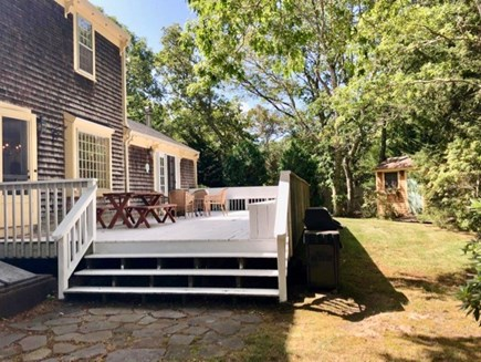 Oak Bluffs, Oak  Martha's Vineyard vacation rental - Large beautiful deck with outdoor furniture and a grill.
