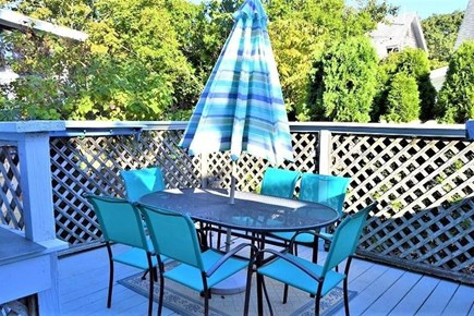 Downtown Oak Bluffs Martha's Vineyard vacation rental - Private back deck with BBQ