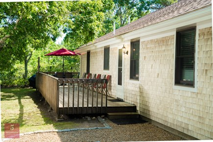 Edgartown Martha's Vineyard vacation rental - Side of House rear entry with deck