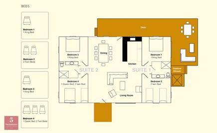 Edgartown Martha's Vineyard vacation rental - House floor plan
