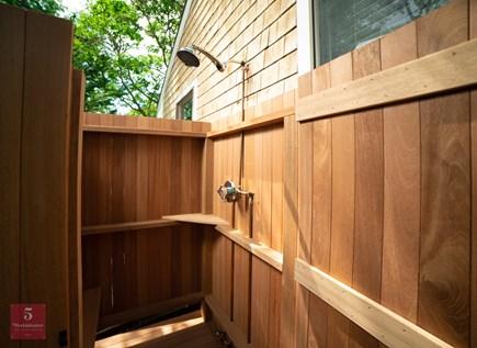 Edgartown Martha's Vineyard vacation rental - New Outdoor Mahogany Shower