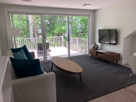 Vineyard Haven Martha's Vineyard vacation rental - Apartment over garage Living Room and private deck