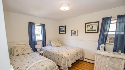 Oak Bluffs, East Chop Martha's Vineyard vacation rental - Upstairs bedroom with double bed and twin bed.  Has a window a/c.