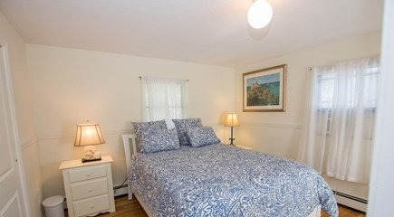 Oak Bluffs, East Chop Martha's Vineyard vacation rental - Master bedroom with queen size bed and private deck