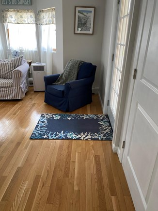 Oak Bluffs, East Chop Martha's Vineyard vacation rental - Living room to out door deck
