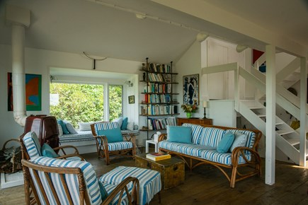 Aquinnah Martha's Vineyard vacation rental - Main house living room