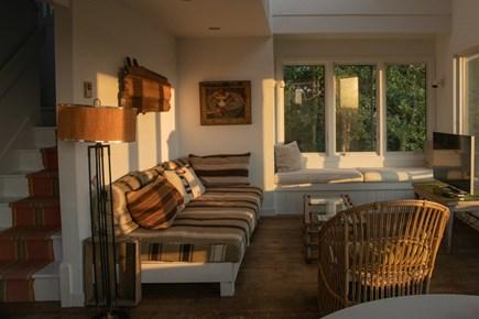 Aquinnah Martha's Vineyard vacation rental - Guest house living room and TV room