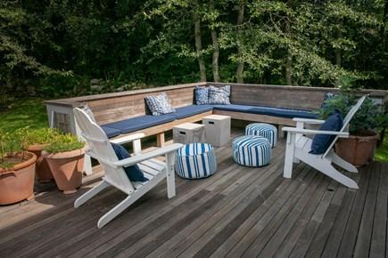 Aquinnah Martha's Vineyard vacation rental - Seating area on deck