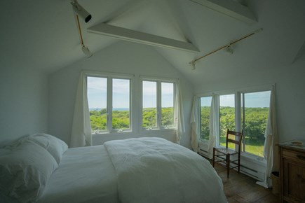 Aquinnah Martha's Vineyard vacation rental - Guest house master bedroom with queen bed