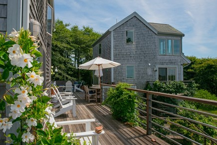 Aquinnah Martha's Vineyard vacation rental - Looking from deck to Guest house