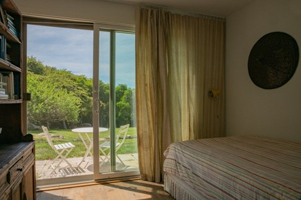 Aquinnah Martha's Vineyard vacation rental - Guest house ground floor bedroom with twin bed and futon