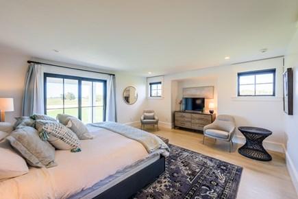 Katama - Edgartown Martha's Vineyard vacation rental - First floor master bedroom. Sliding doors out to deck. King bed.