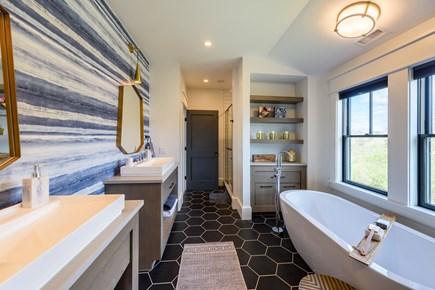 Katama - Edgartown Martha's Vineyard vacation rental - Second floor master bathroom.