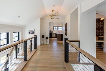 Katama - Edgartown Martha's Vineyard vacation rental - Upstairs hallway. Full bathroom on right, kitchen ahead.