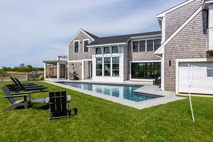 Katama - Edgartown Martha's Vineyard vacation rental - View of side yard with pool.