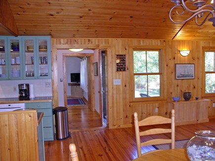 Chilmark, Tisbury Great Pond Martha's Vineyard vacation rental - Great Room hallway w/ access to the deck entry door and MBR wing