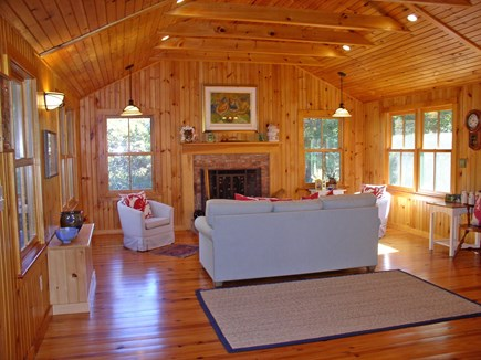 Chilmark, Tisbury Great Pond Martha's Vineyard vacation rental - The sun-filled and welcoming LR area of the Great Room