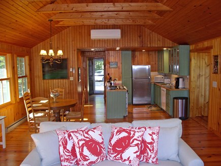 Chilmark, Tisbury Great Pond Martha's Vineyard vacation rental - The Great Room's dining area and new kitchen