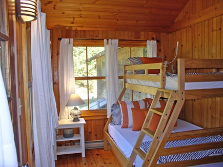 Chilmark, Tisbury Great Pond Martha's Vineyard vacation rental - Fun and bright bunkroom, w/ its double lower bed and twin top bed