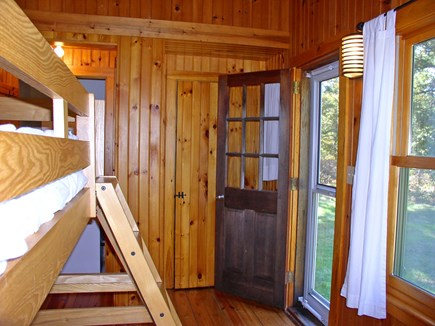 Chilmark, Tisbury Great Pond Martha's Vineyard vacation rental - Bunk BR w/ private entry from the backyard & nearby parking area