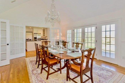 West Tisbury Martha's Vineyard vacation rental - Gorgeous formal dining room opens to back yard.