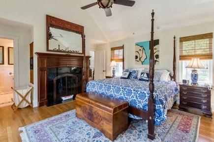 West Tisbury Martha's Vineyard vacation rental - First floor master features en suite bath and fireplace.