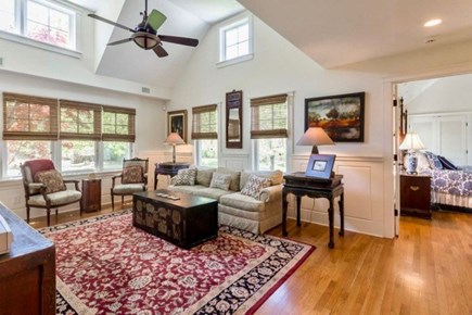 West Tisbury Martha's Vineyard vacation rental - Large living room with high ceilings for gathering