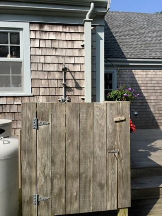 Chilmark Martha's Vineyard vacation rental - Our outdoor shower has a great view of the woods