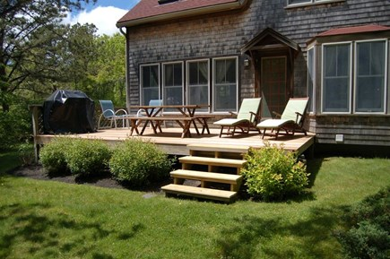 West Tisbury Martha's Vineyard vacation rental - Relaxing back deck with grill