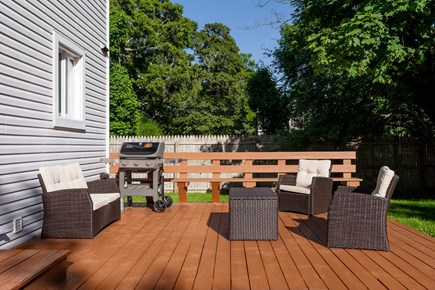 Oak Bluffs Martha's Vineyard vacation rental - Brand new patio furniture, Weber gas grill, and fresh deck stain.
