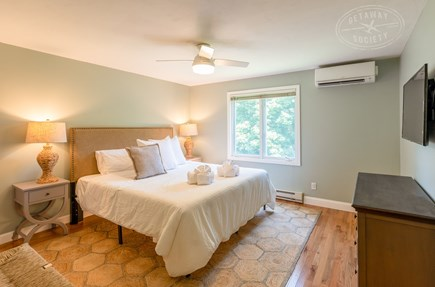 Oak Bluffs Martha's Vineyard vacation rental - King master bedroom with new furniture, Samsung SmartTV, and AC