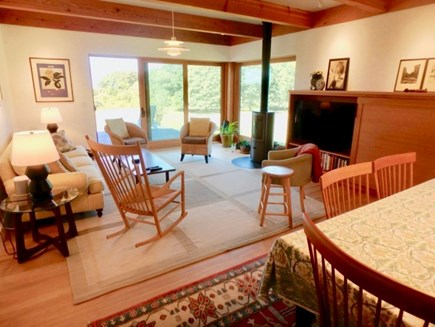 Chilmark Martha's Vineyard vacation rental - Sleek style Living room and dining room