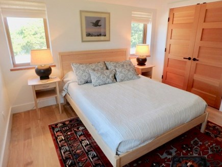 Chilmark Martha's Vineyard vacation rental - Upstairs queen Bedroom with water views