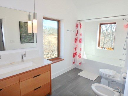 Chilmark Martha's Vineyard vacation rental - Clean and bright upstairs full bath with bathtub and shower