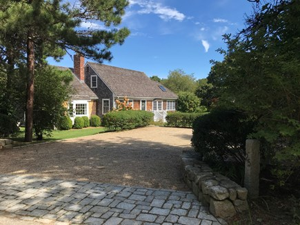 Edgartown Martha's Vineyard vacation rental - View of charming expanded Cape and expansive multi-car driveway.