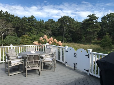 Edgartown Martha's Vineyard vacation rental - Beautiful spacious deck perfect for entertaining and/or  relaxing