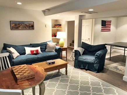 Edgartown Martha's Vineyard vacation rental - Spacious finished basement with games and ping pong table