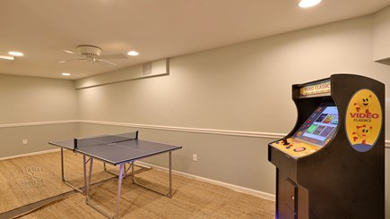 Oak Bluffs Martha's Vineyard vacation rental - Basement game room w/table tennis and arcade machine w/100+ games