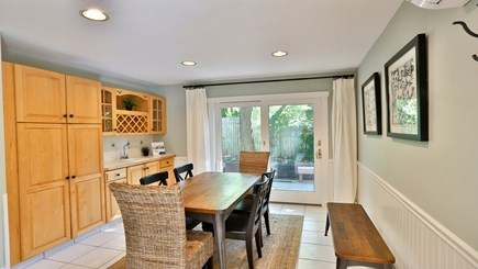 Oak Bluffs Martha's Vineyard vacation rental - Eat-in kitchen with seating for six and a wet bar