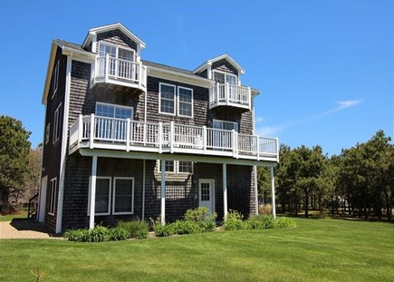 Katama - Edgartown Martha's Vineyard vacation rental - Large Front Yard perfect for playing Catch!