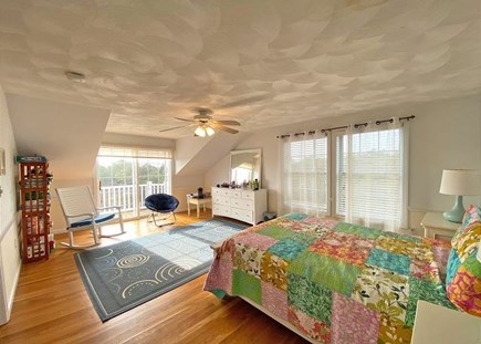 Katama - Edgartown Martha's Vineyard vacation rental - 3rd Floor Bedroom with Sliders to Deck