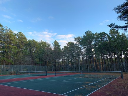 Vineyard Haven, Tisbury Martha's Vineyard vacation rental - Tennis courts located directly across our townhouse