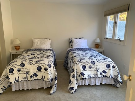 Vineyard Haven, Tisbury Martha's Vineyard vacation rental - Second bedroom shown with 2 twin (other option is king size bed)
