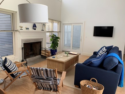 Vineyard Haven, Tisbury Martha's Vineyard vacation rental - Living Room with TV and access to huge deck