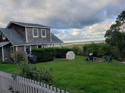 Edgartown, Sengekontacket Pond Waterfront Martha's Vineyard vacation rental - Side yard over looking Sengie Pond